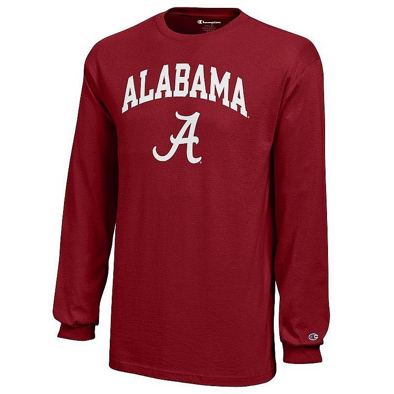 Alabama Crimson Tide Kids Long Sleeve TShirt Arch Crimson APC03008172