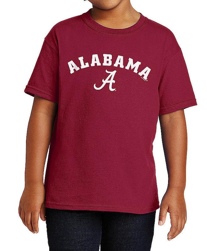 Alabama Crimson Tide Kids TShirt Arch Charcoal APC03009781