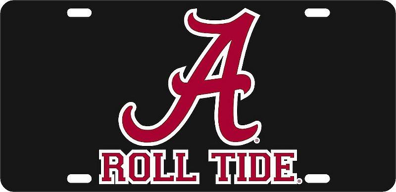 Alabama Crimson Tide License Plate Black 10945