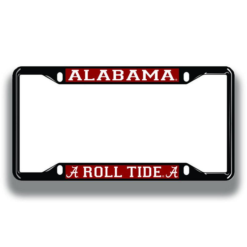 Alabama Crimson Tide License Plate Frame Black 10934