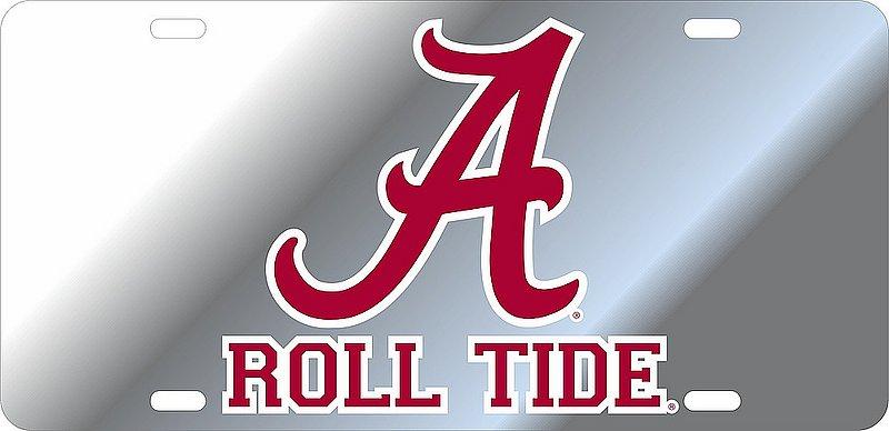 Alabama Crimson Tide License Plate Silver 10944