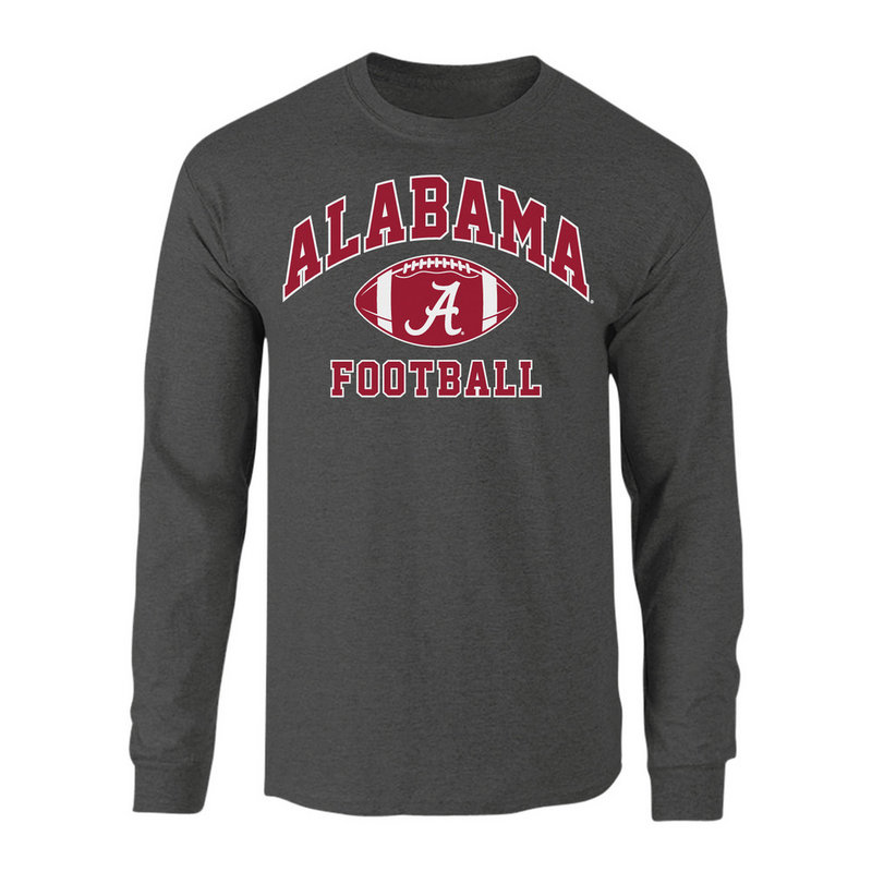 Alabama Crimson Tide Long Sleeve Shirt Charcoal ALA-029