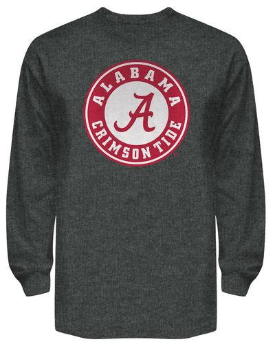 Alabama Crimson Tide Long Sleeve Shirt Charcoal Icon
