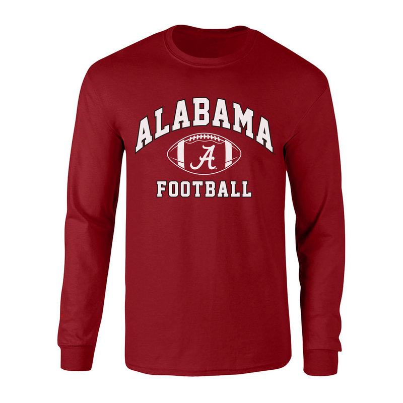 Alabama Crimson Tide Long Sleeve Shirt Crimson ALA-090