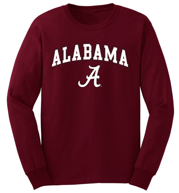 Alabama Crimson Tide Long Sleeve T Shirt Arch UW016