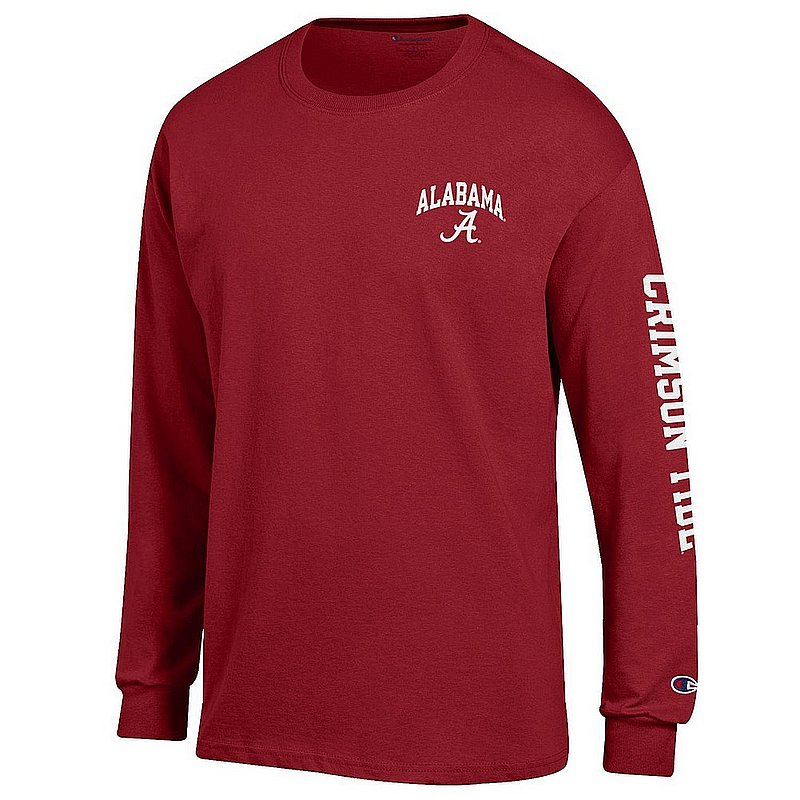 Alabama Crimson Tide Long Sleeve T Shirt Letterman APC02973397/APC02973400