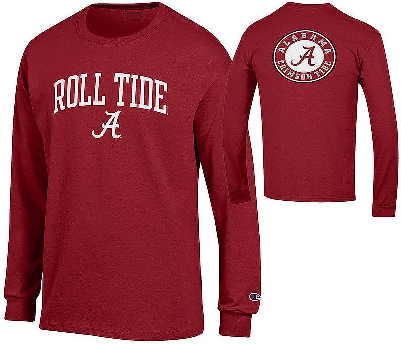 Alabama Crimson Tide Long Sleeve Tshirt Back Roll Tide APC03010097-APC03010096