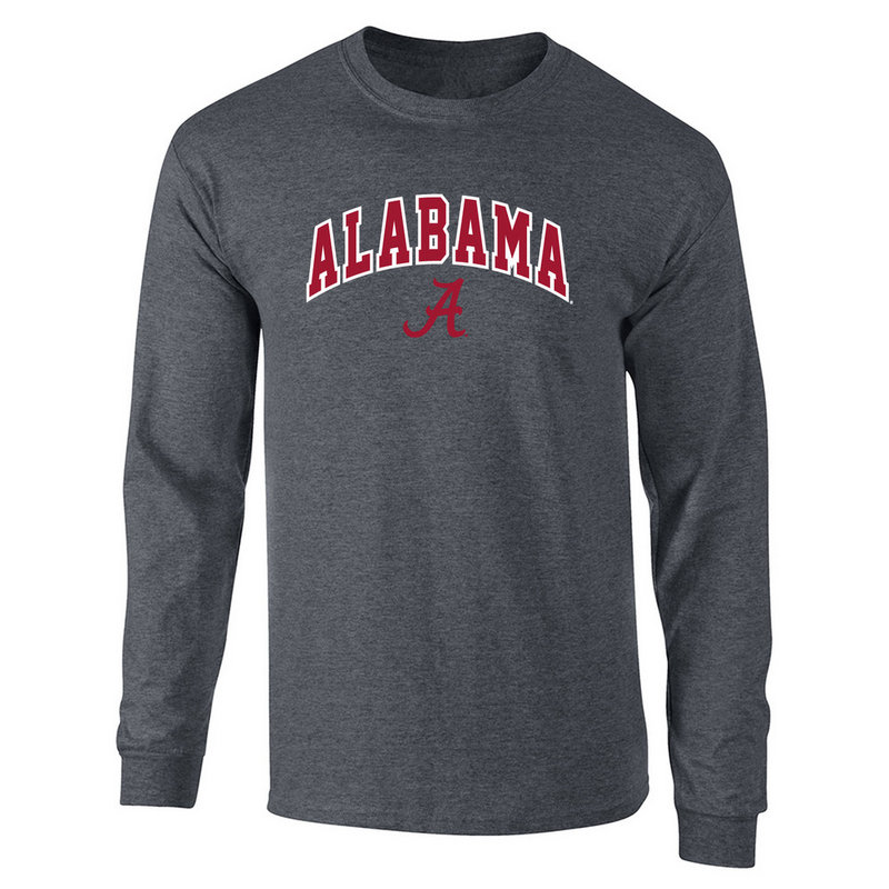 Alabama Crimson Tide Long Sleeve Tshirt Heather Gray P0004997