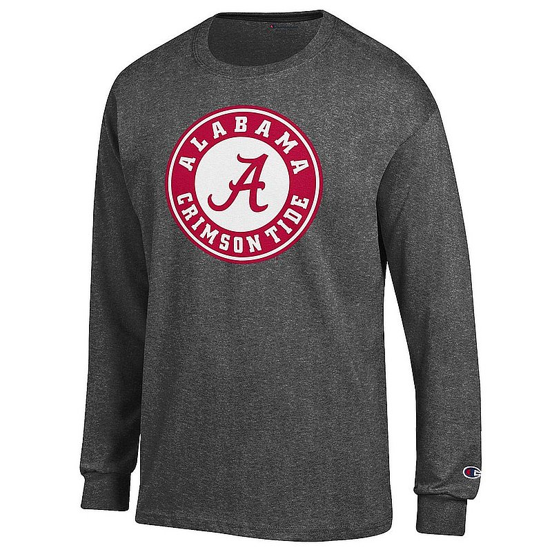 Alabama Crimson Tide Long Sleeve TShirt Icon Charcoal APC03004900