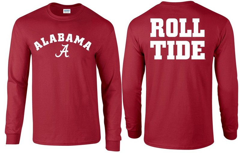 Alabama Crimson Tide Long Sleeve Tshirt P0005430/P0005431