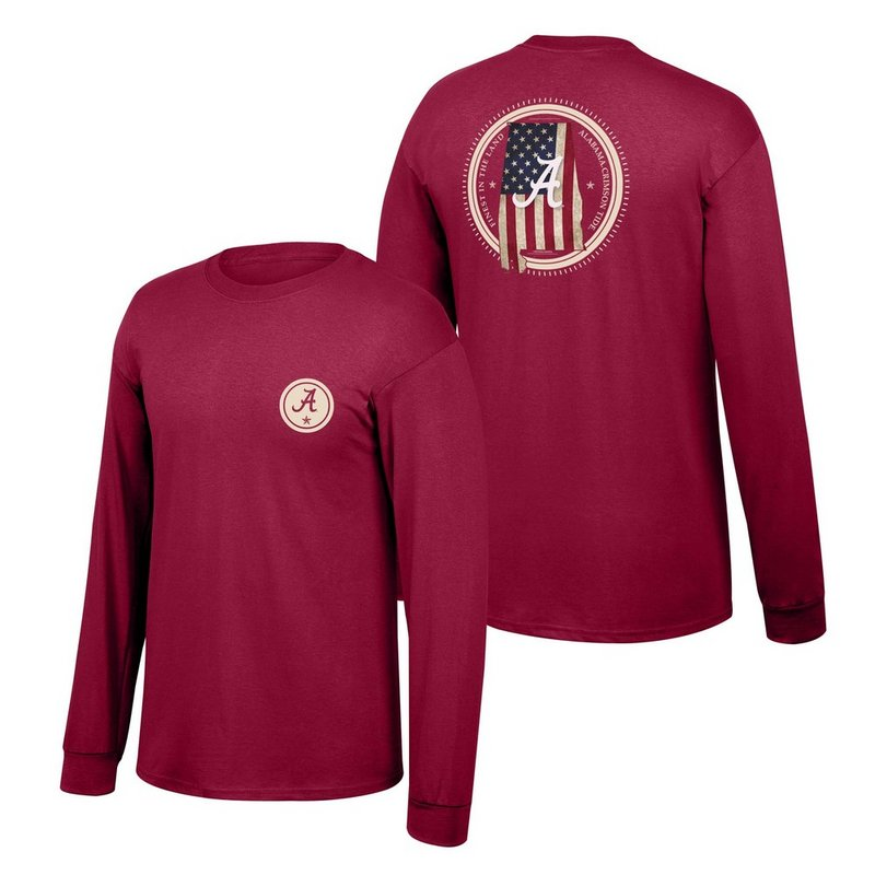 Alabama Crimson Tide Long Sleeve Tshirt State Patriot ALAStatePatriot