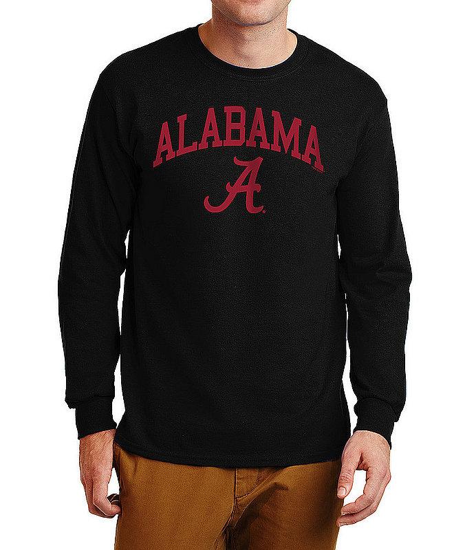 Alabama Crimson Tide Long Sleeve TShirt Varsity Black APC03006960