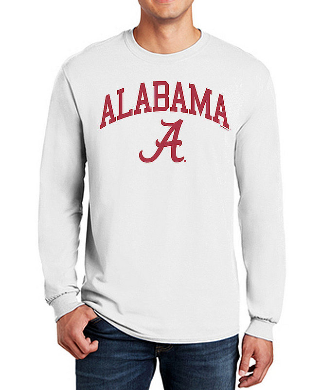 Alabama Crimson Tide Long Sleeve TShirt Varsity White APC03006381