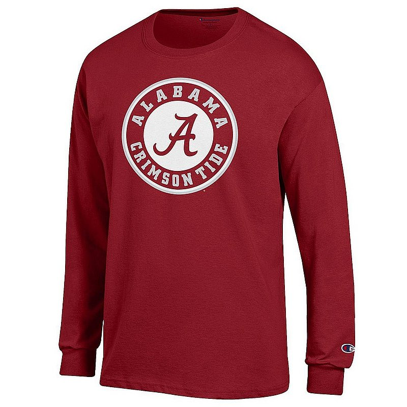 Alabama Crimson Tide Mens Apparel Long Sleeve TShirt Icon APC03004899