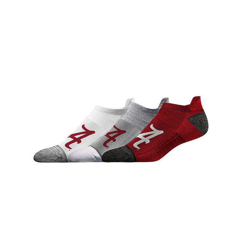 Alabama Crimson Tide No Show Socks 3-Pack