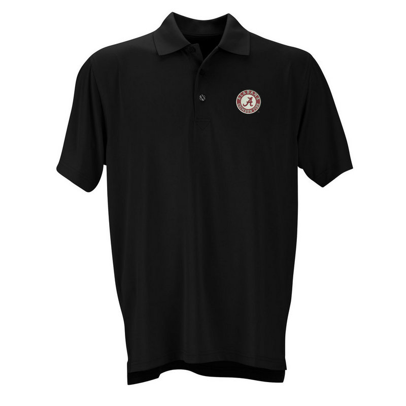 Alabama Crimson Tide Performance Polo Circle Black 2600