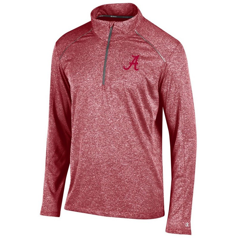 Alabama Crimson Tide Quarter Zip Long Sleeve Shirt APC02613157