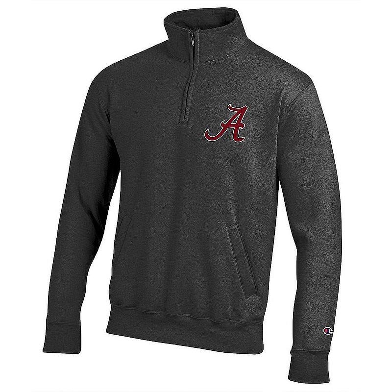 Alabama Crimson Tide Quarter Zip Sweatshirt Captain Gray APC03419972
