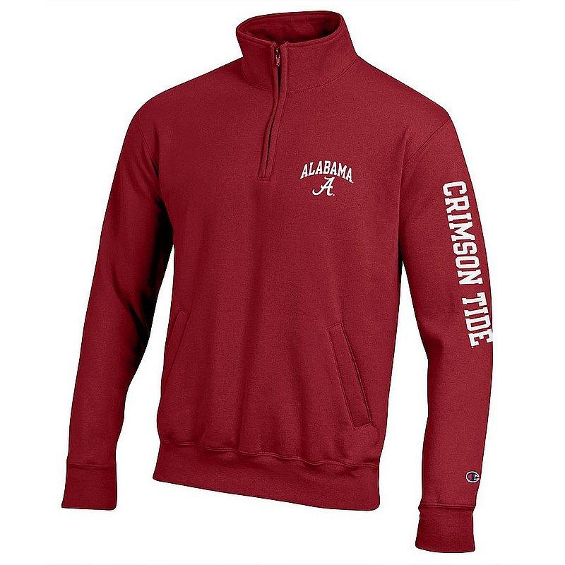 Alabama Crimson Tide Quarter Zip Sweatshirt Letterman APC02973397/APC02973400