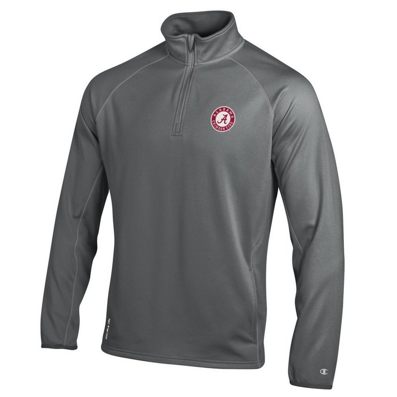 Alabama Crimson Tide Quarter Zip Sweatshirt Titanium APC02788571