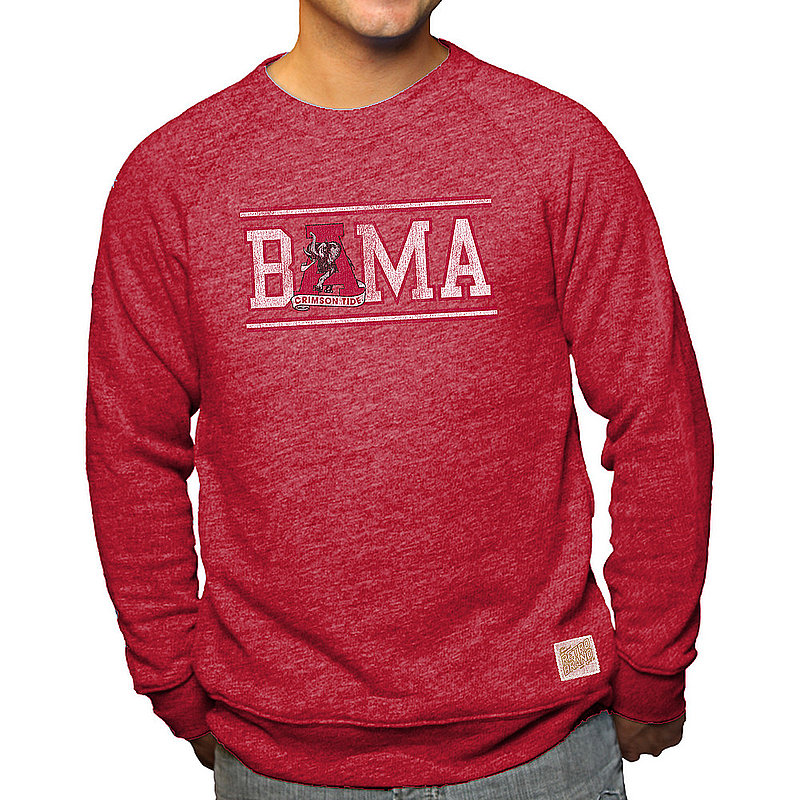 Alabama Crimson Tide Retro TriBlend Crewneck Sweatshirt CALA108A_RB6095_DRF