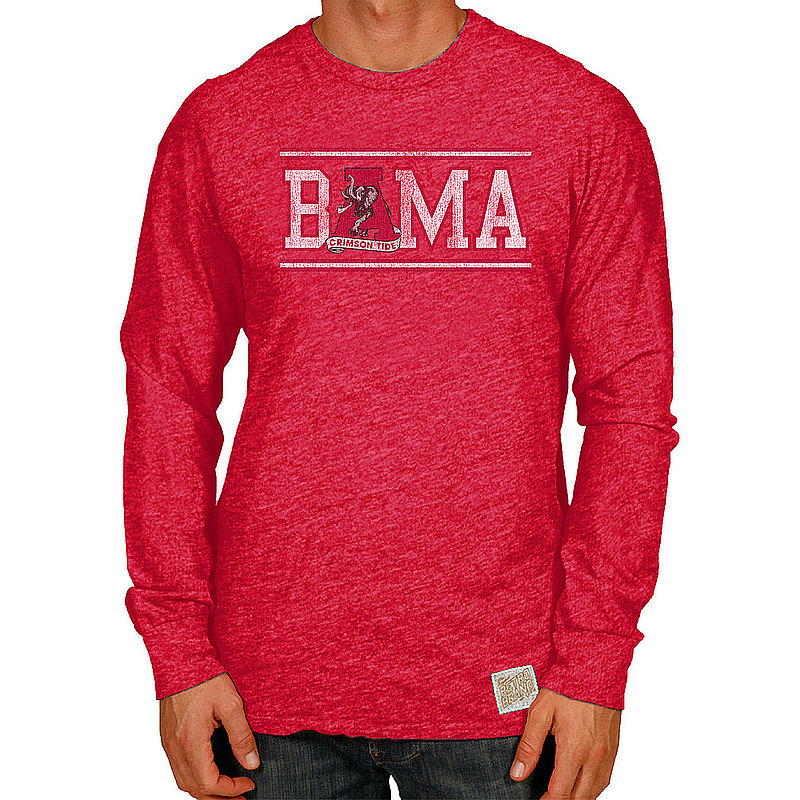Alabama Crimson Tide Retro TriBlend Long Sleeve Tshirt CALA108A_RB420_SRE