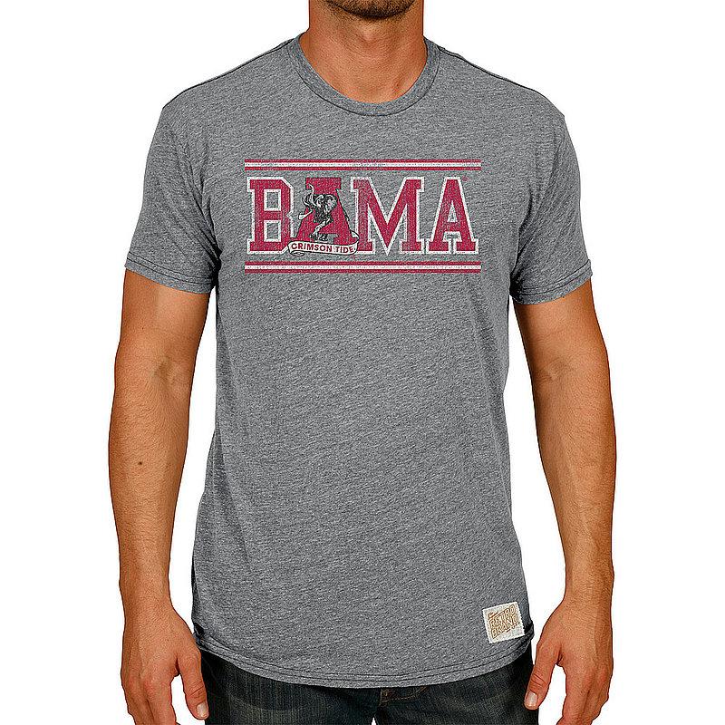 Alabama Crimson Tide Retro TriBlend Tshirt Gray CALA108C_RB120A_STG