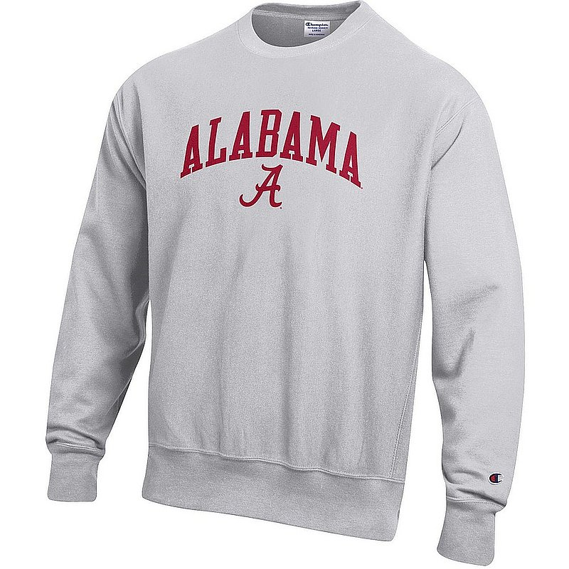 Alabama Crimson Tide Reverse Weave Crewneck Sweatshirt Gray APC03006080