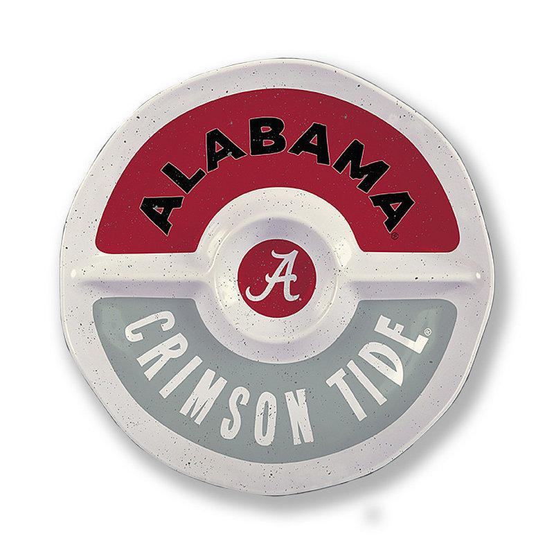 "Alabama Crimson Tide Round Serving Tray 15"" AL MEL ROUND SEC 15"