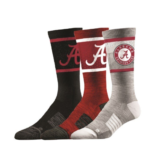 Alabama Crimson Tide Socks 3-Pack