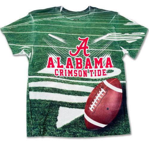 Alabama Crimson Tide Sublimated Kids T Shirt 48O64