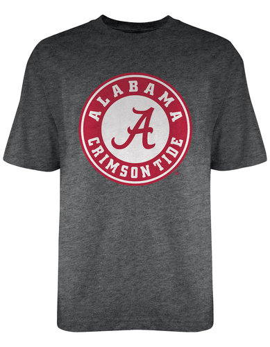 Alabama Crimson Tide T Shirt Icon Charcoal P0004989