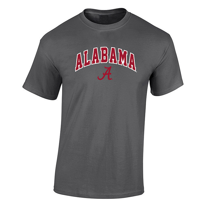 Alabama Crimson Tide Tshirt Arch Over Plus Size Charcoal