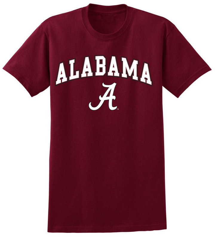 Alabama Crimson Tide Tshirt Arch Over UW016