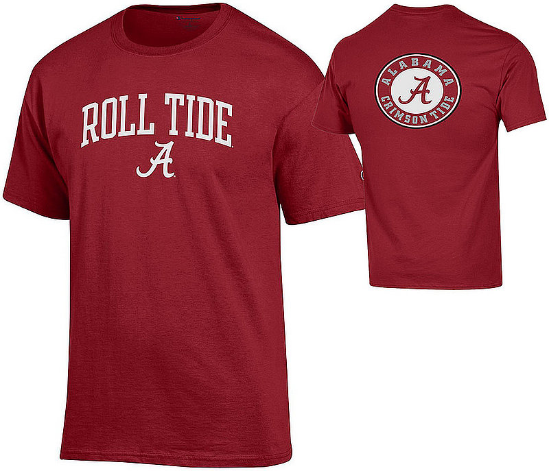 Alabama Crimson Tide Tshirt Back Roll Tide APC03010097-APC03010096