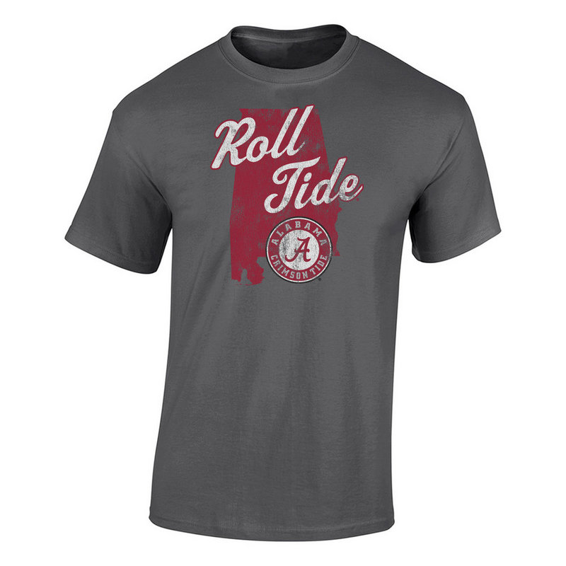 Alabama Crimson Tide TShirt Charcoal P0006165/ALA525