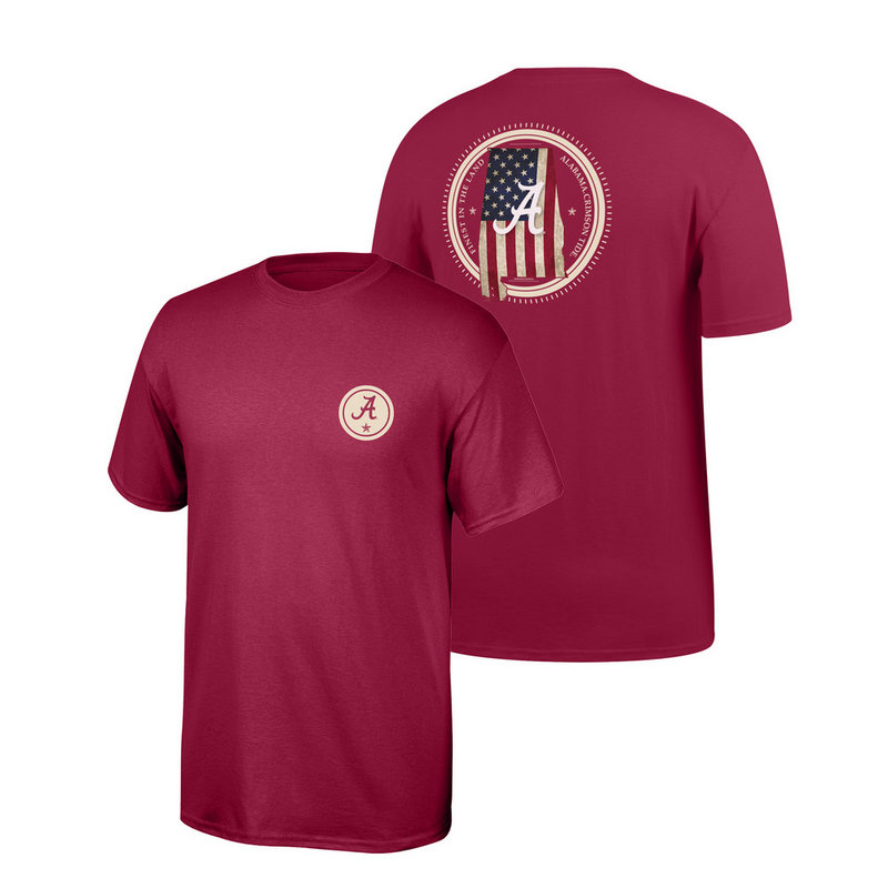 Alabama Crimson Tide Tshirt State Patriot ALAStatePatriot