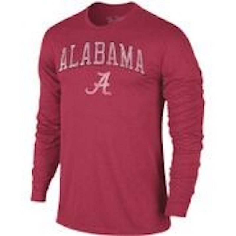 Alabama Crimson Tide Vintage Long Sleeve Tshirt Victory TV402_ALAV1412A_HCA