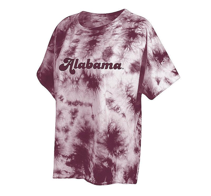 Alabama Crimson Tide Women's Tie-Dye Slouchy Tshirt 469-51-AL546