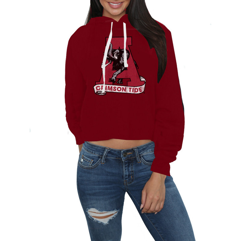 Alabama Crimson Tide Womens Crop Hoodie Sweatshirt