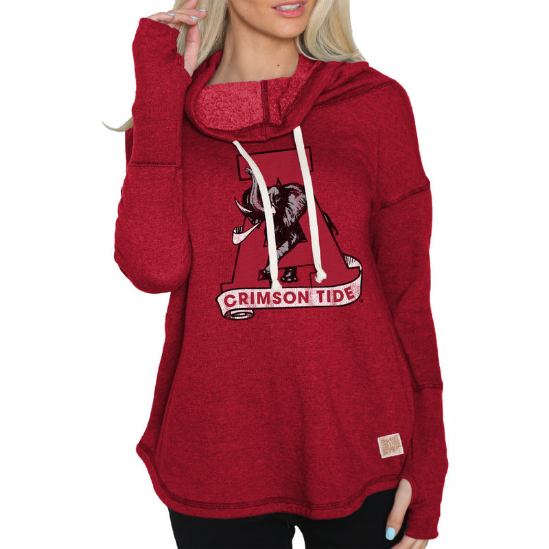 Alabama Crimson Tide Womens Funnel Neck Sweatshirt