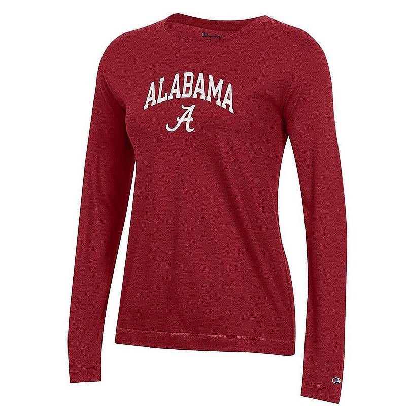 Alabama Crimson Tide Womens Long Sleeve TShirt Arch APC03442845