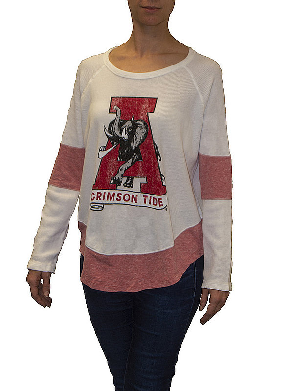 Alabama Crimson Tide Womens Thermal Long Sleeve Shirt CALA911S_RB1906M_SRE