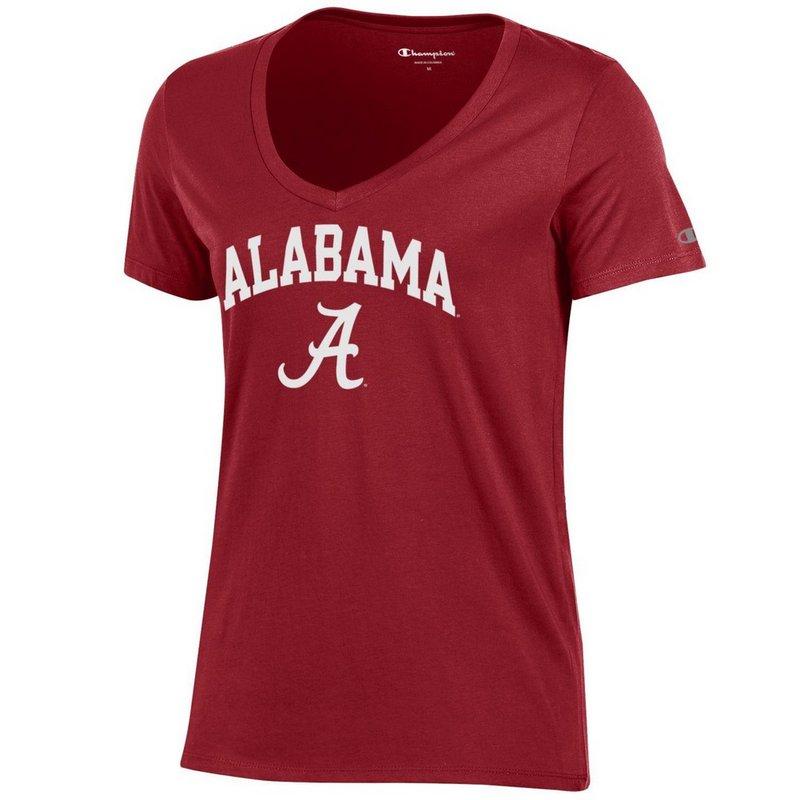 Alabama Crimson Tide Womens VNeck TShirt Cardinal APC03151559