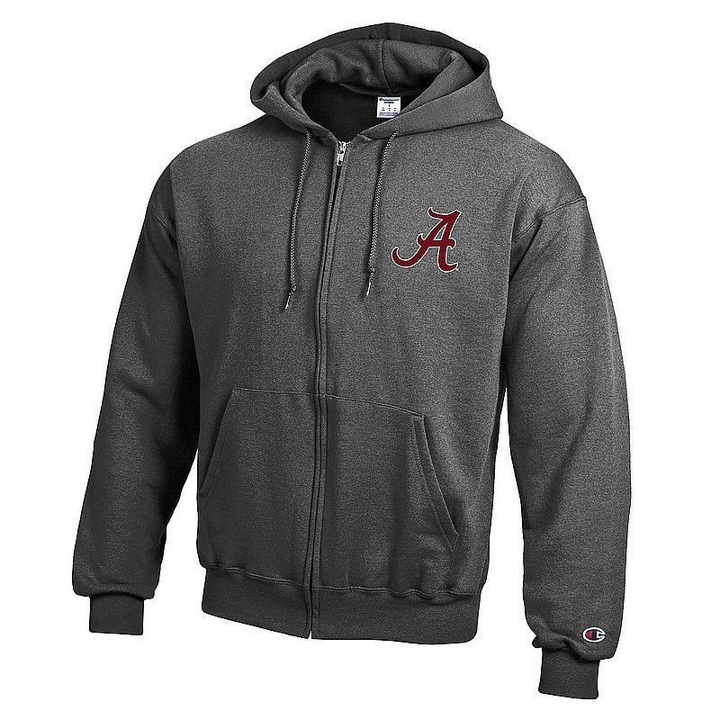 Alabama Crimson Tide Zip Up Hoodie Sweatshirt Captain Gray APC03419972