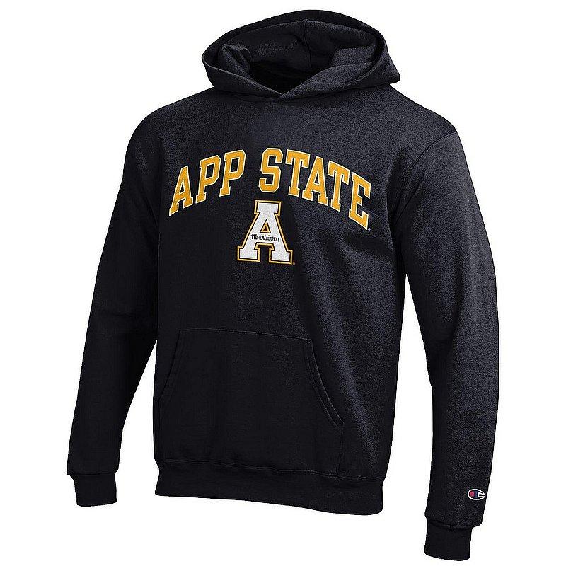 Appalachian State Mountaineers Kids Hooded Sweatshirt Arch Black APC03321790