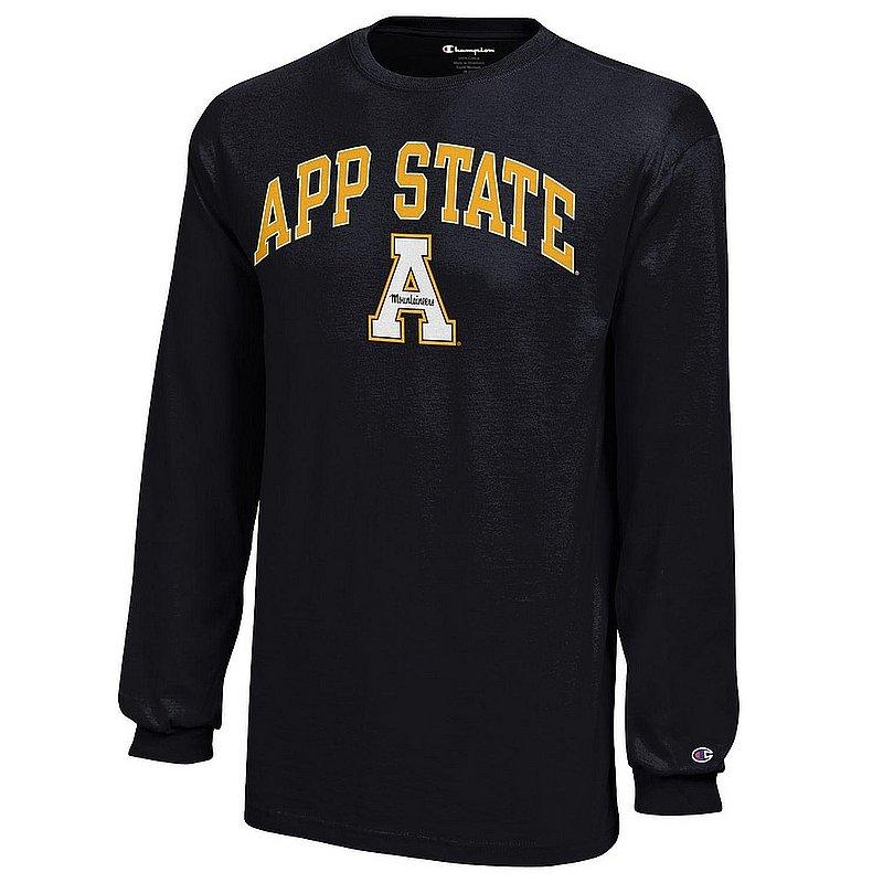Appalachian State Mountaineers Kids Long Sleeve TShirt Black APC03321790