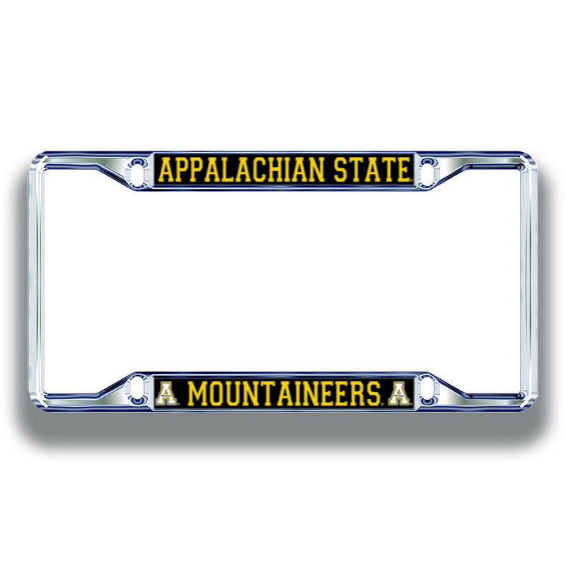 Appalachian State Mountaineers License Plate Frame Silver 02909
