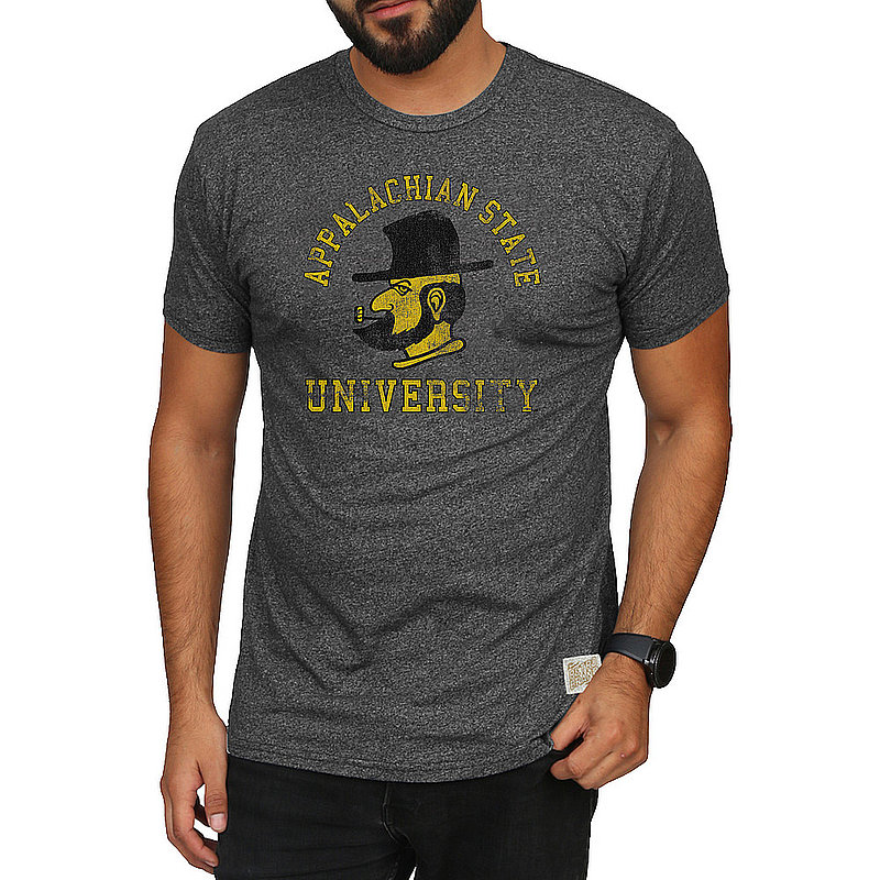 Appalachian State Mountaineers Retro Tshirt Charcoal APPR1376A_RB124M_MTCH
