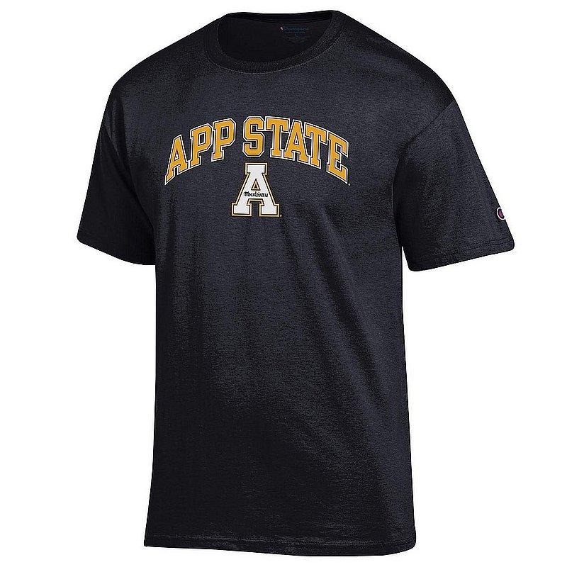 Appalachian State Mountaineers TShirt Varsity Black Arch Over APC03001114*